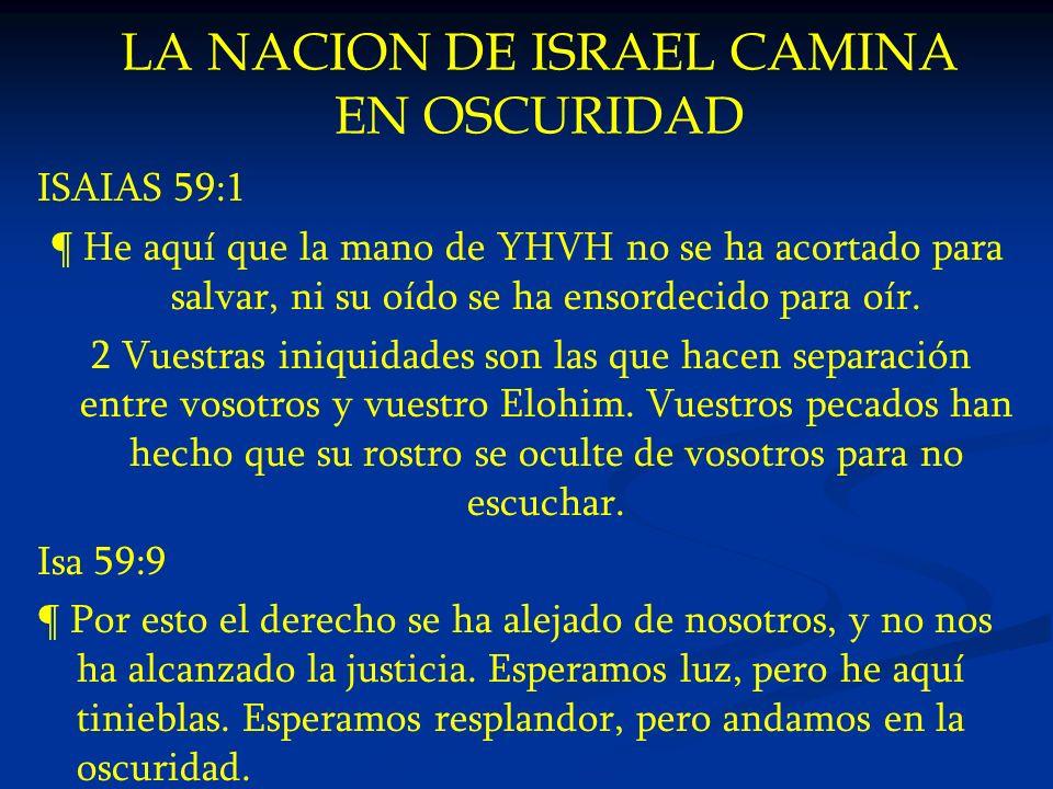 LA NACION DE ISRAEL CAMINA EN OSCURIDAD