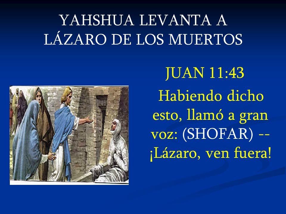 YAHSHUA LEVANTA A LÁZARO DE LOS MUERTOS