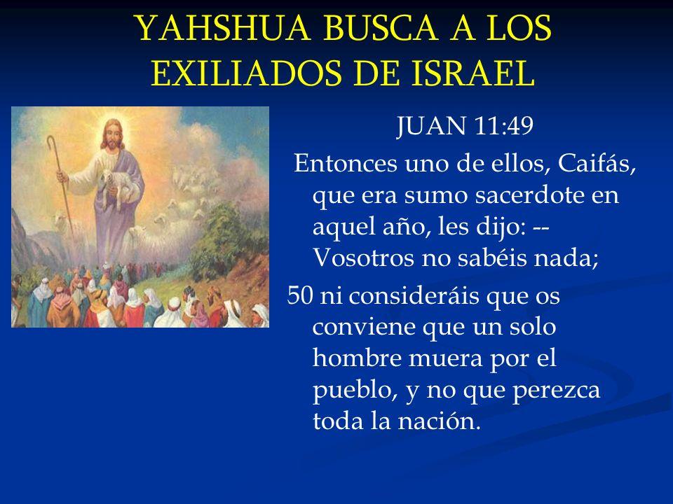YAHSHUA BUSCA A LOS EXILIADOS DE ISRAEL