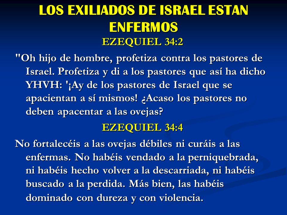 LOS EXILIADOS DE ISRAEL ESTAN ENFERMOS