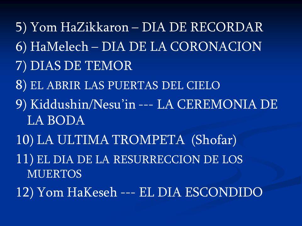 5) Yom HaZikkaron – DIA DE RECORDAR