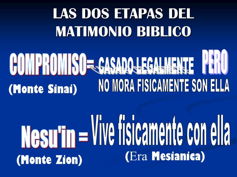 LAS DOS ETAPAS DEL MATIMONIO BIBLICO