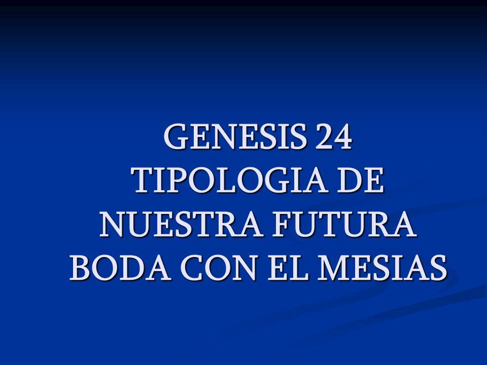GENESIS 24 TIPOLOGIA DE NUESTRA FUTURA BODA CON EL MESIAS