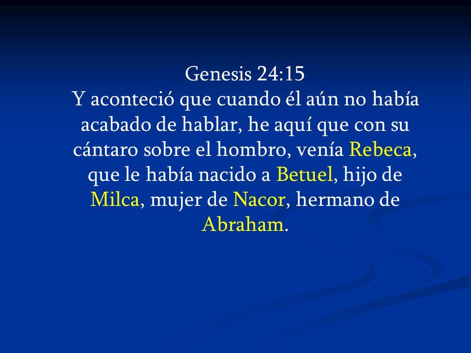 Genesis 24:15