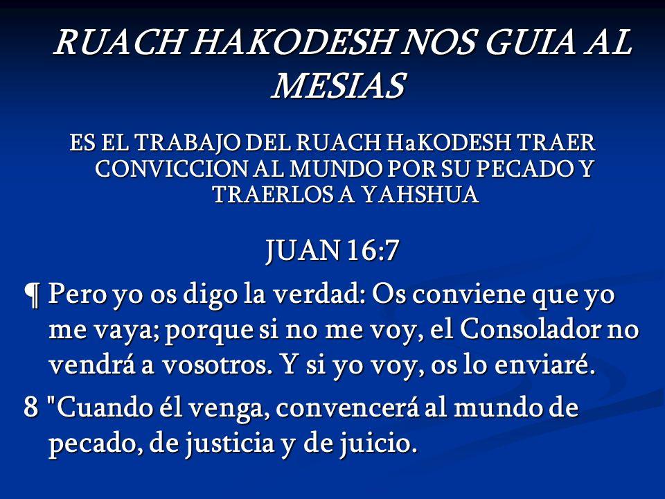 RUACH HAKODESH NOS GUIA AL MESIAS