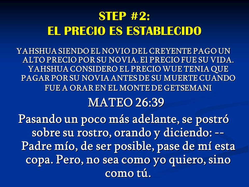 STEP #2: EL PRECIO ES ESTABLECIDO