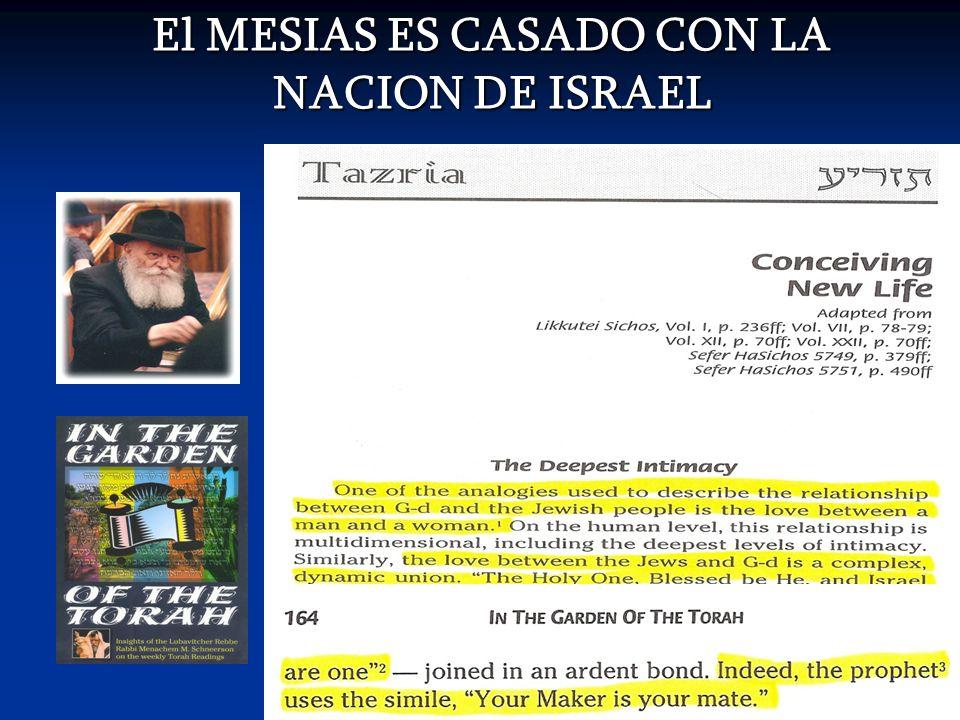 El MESIAS ES CASADO CON LA NACION DE ISRAEL
