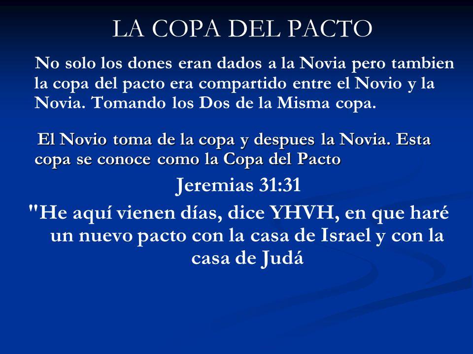 LA COPA DEL PACTO Jeremias 31:31