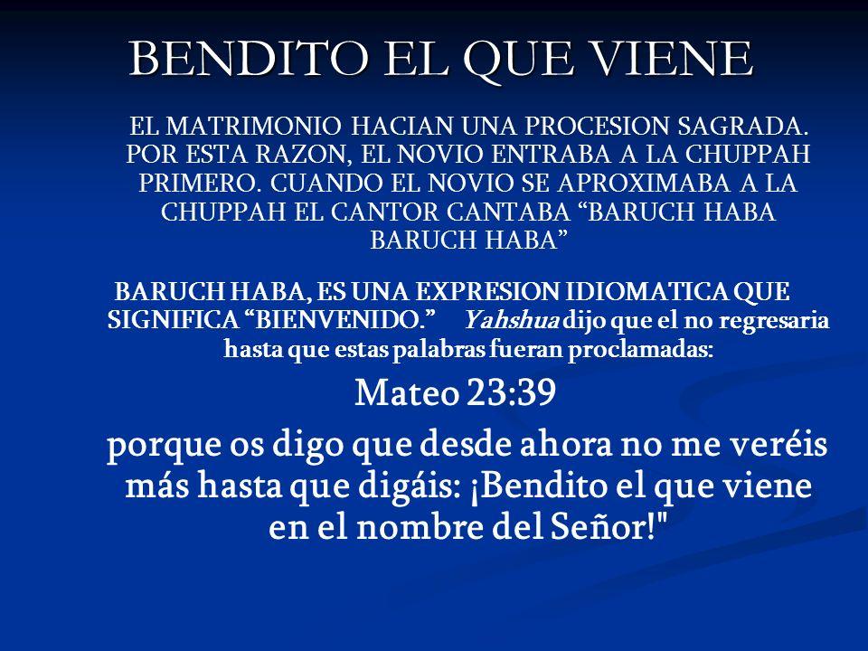 BENDITO EL QUE VIENE