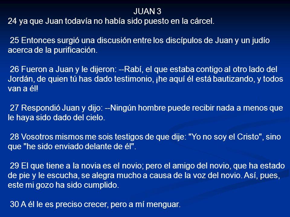 JUAN 3 24 ya que Juan todavía no había sido puesto en la cárcel.