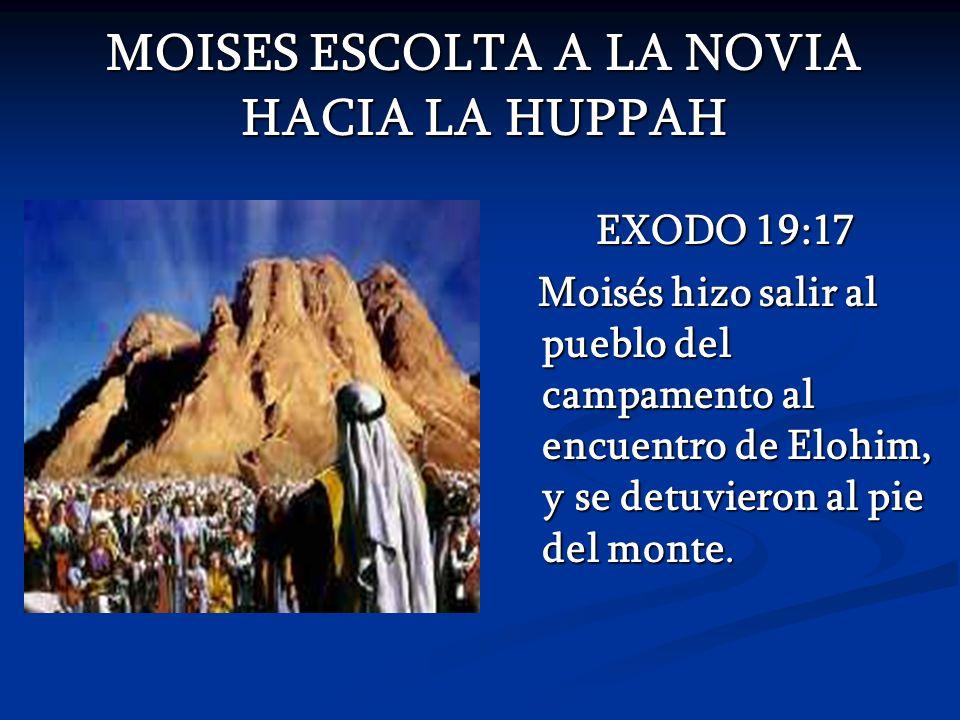 MOISES ESCOLTA A LA NOVIA HACIA LA HUPPAH