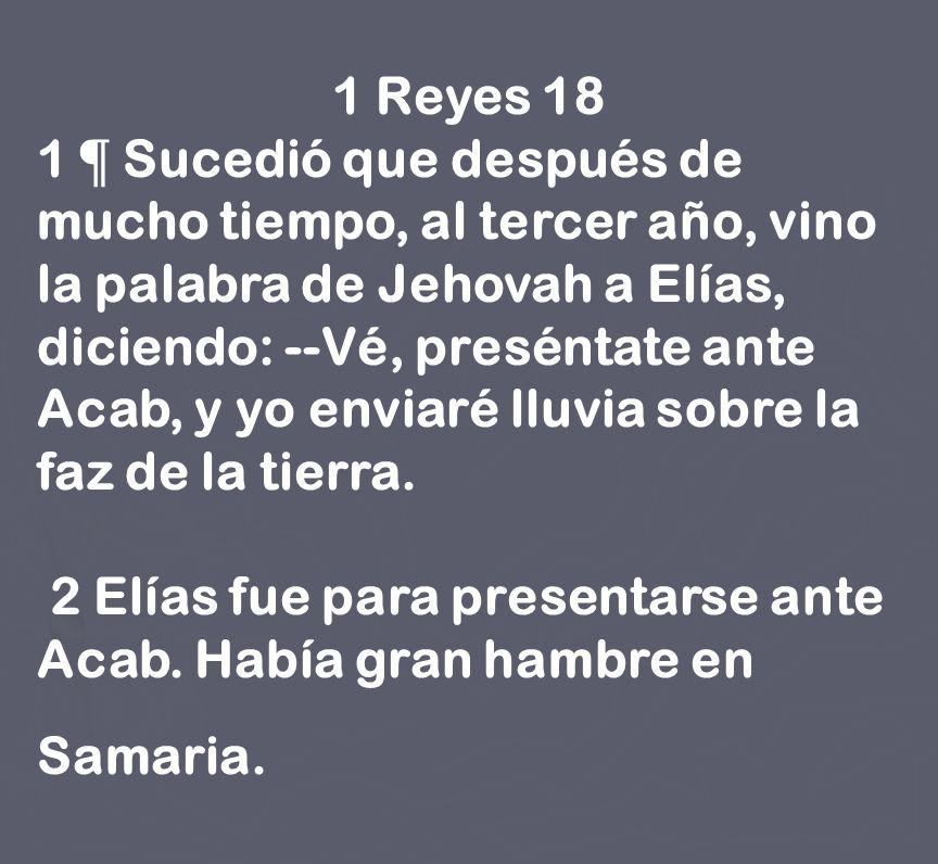 1 Reyes 18