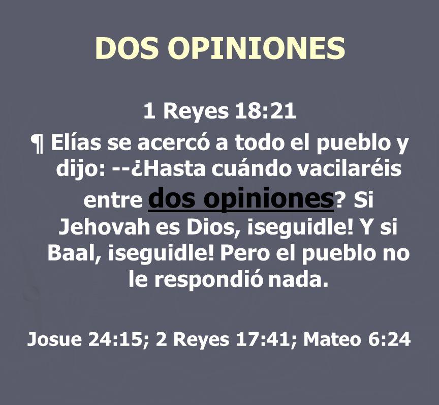 Josue 24:15; 2 Reyes 17:41; Mateo 6:24