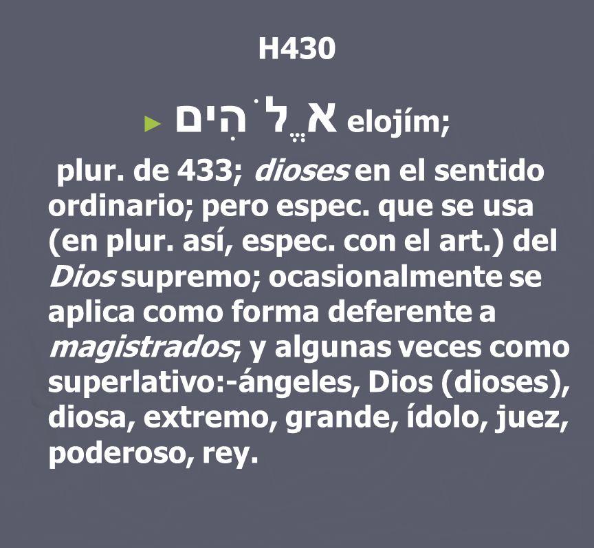 H430 אֱלֹהִים elojím;