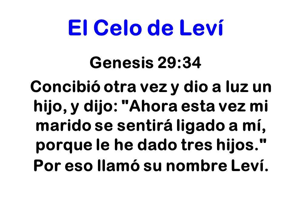 El Celo de Leví Genesis 29:34