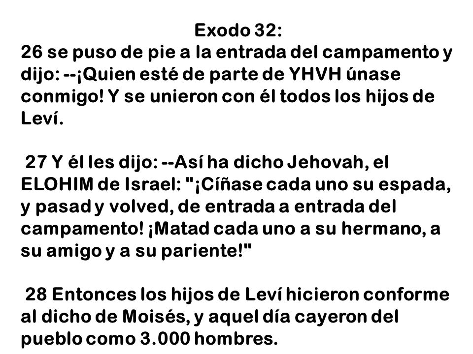 Exodo 32: