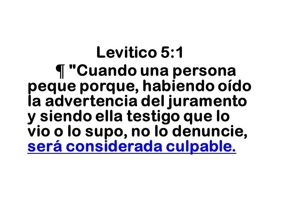 Levitico 5:1