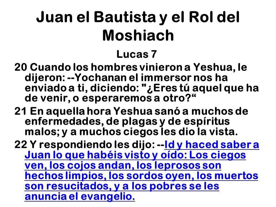 Juan el Bautista y el Rol del Moshiach