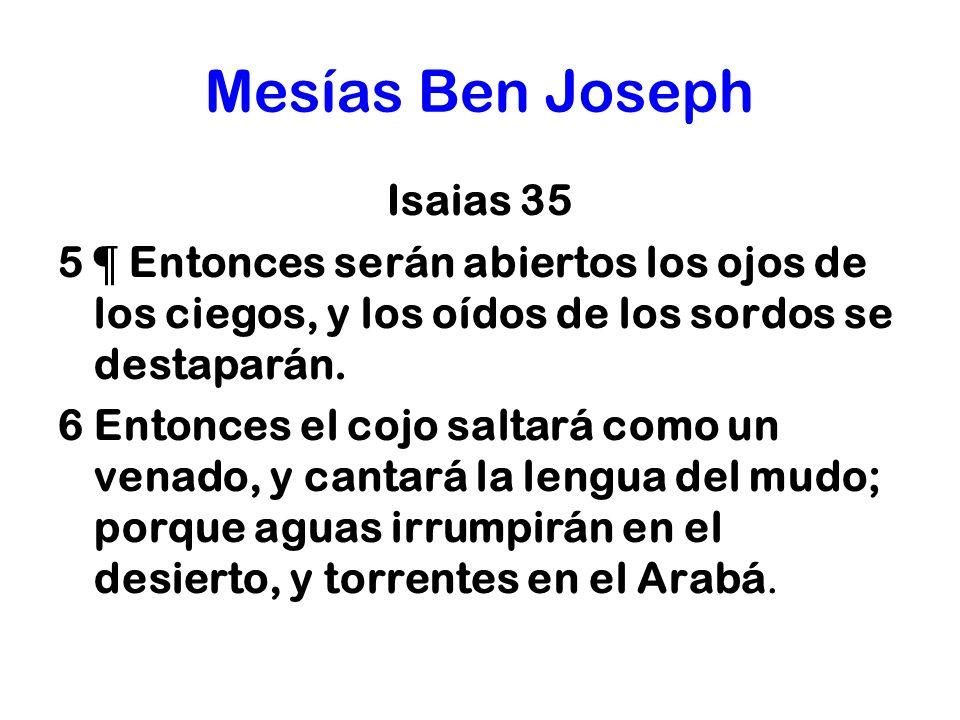 Mesías Ben Joseph Isaias 35