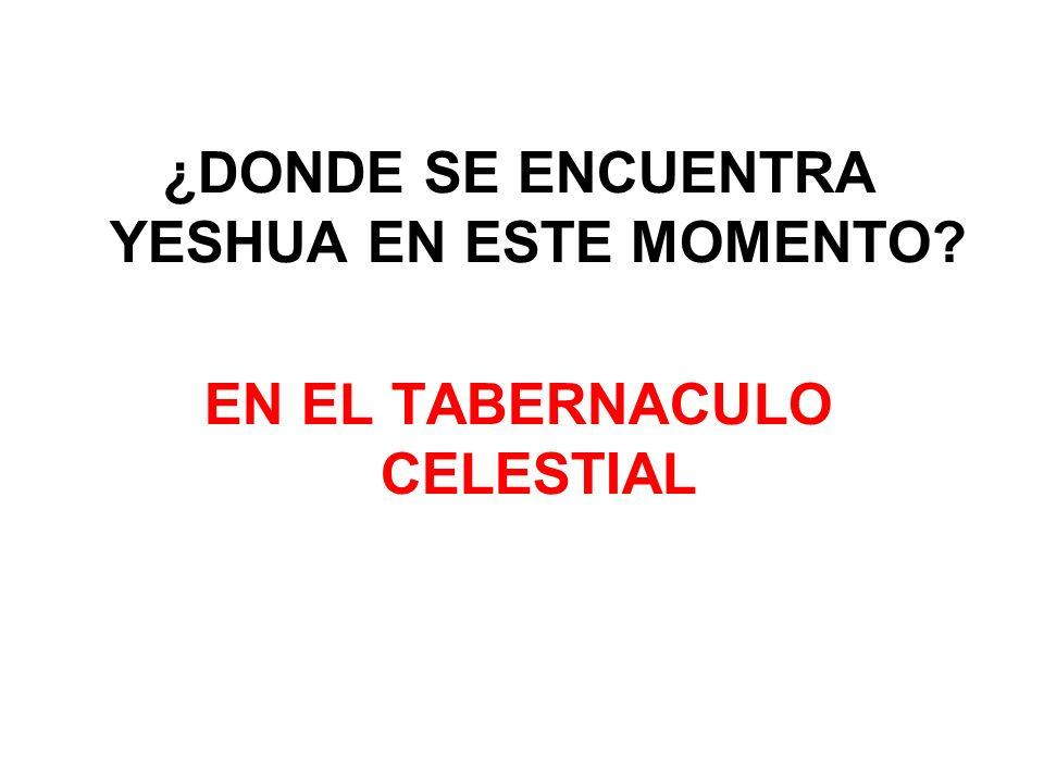 ¿DONDE SE ENCUENTRA YESHUA EN ESTE MOMENTO EN EL TABERNACULO CELESTIAL