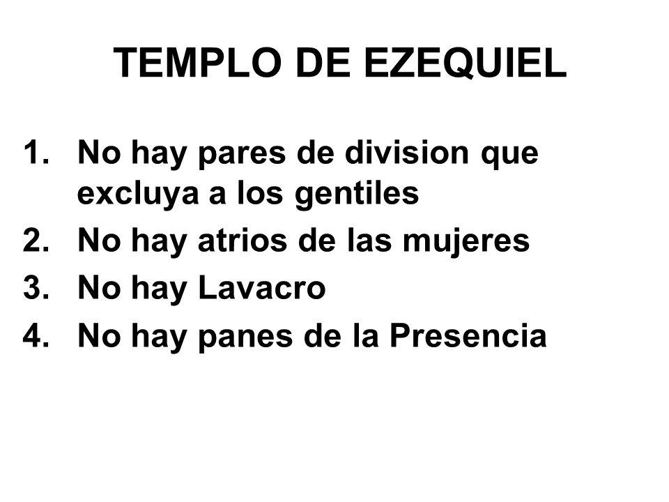 TEMPLO DE EZEQUIEL No hay pares de division que excluya a los gentiles