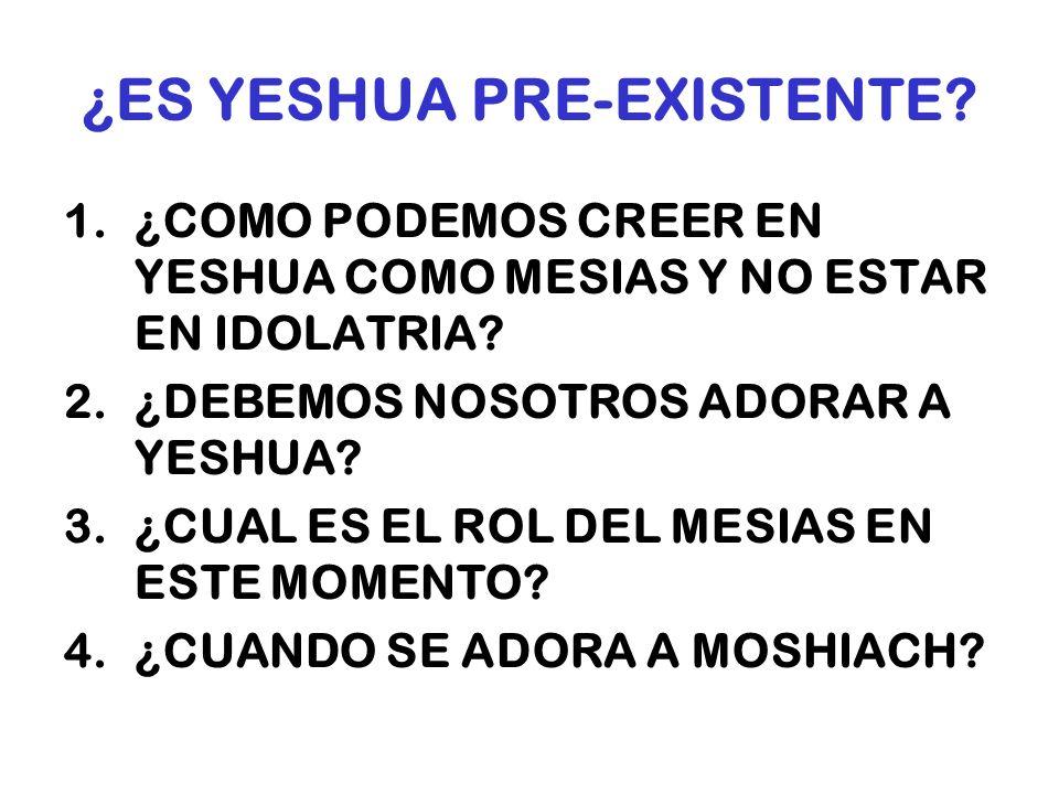 ¿ES YESHUA PRE-EXISTENTE