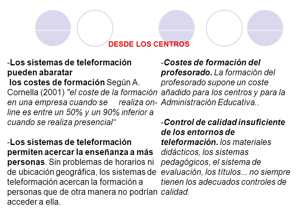 Los sistemas de teleformación pueden abaratar