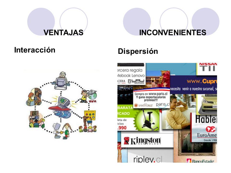 VENTAJAS INCONVENIENTES Interacción Dispersión