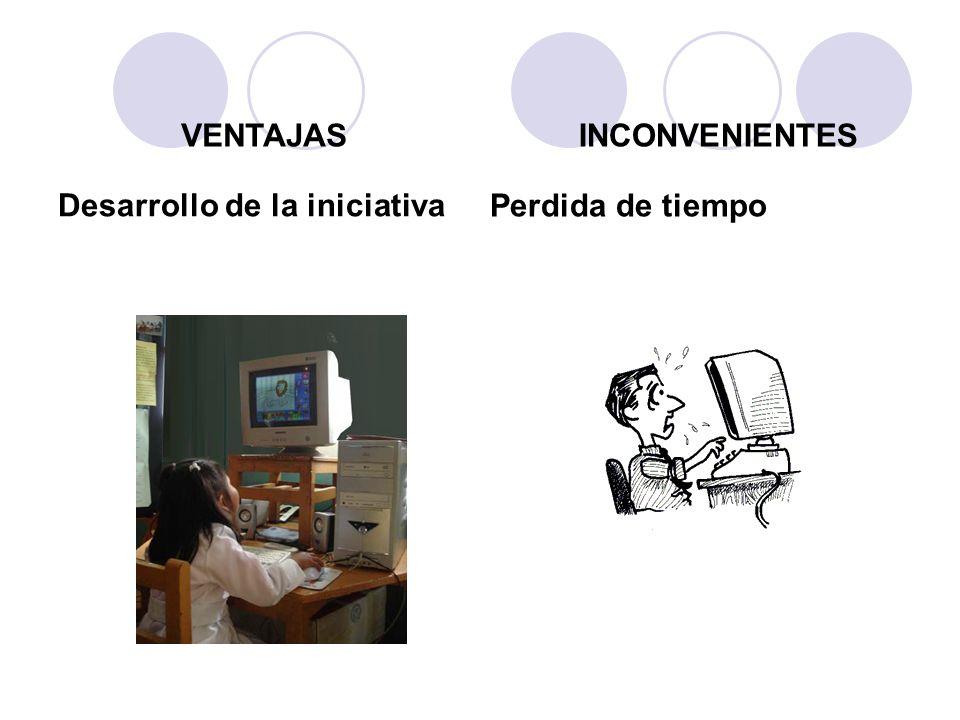 VENTAJAS INCONVENIENTES Desarrollo de la iniciativa Perdida de tiempo