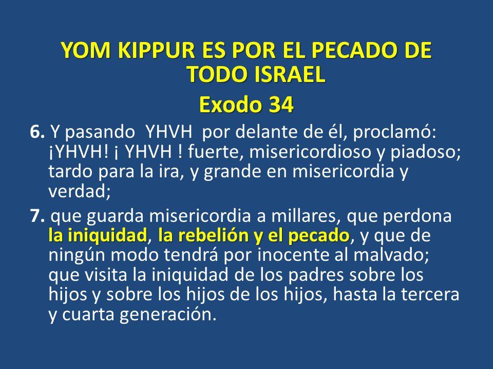 YOM KIPPUR ES POR EL PECADO DE TODO ISRAEL
