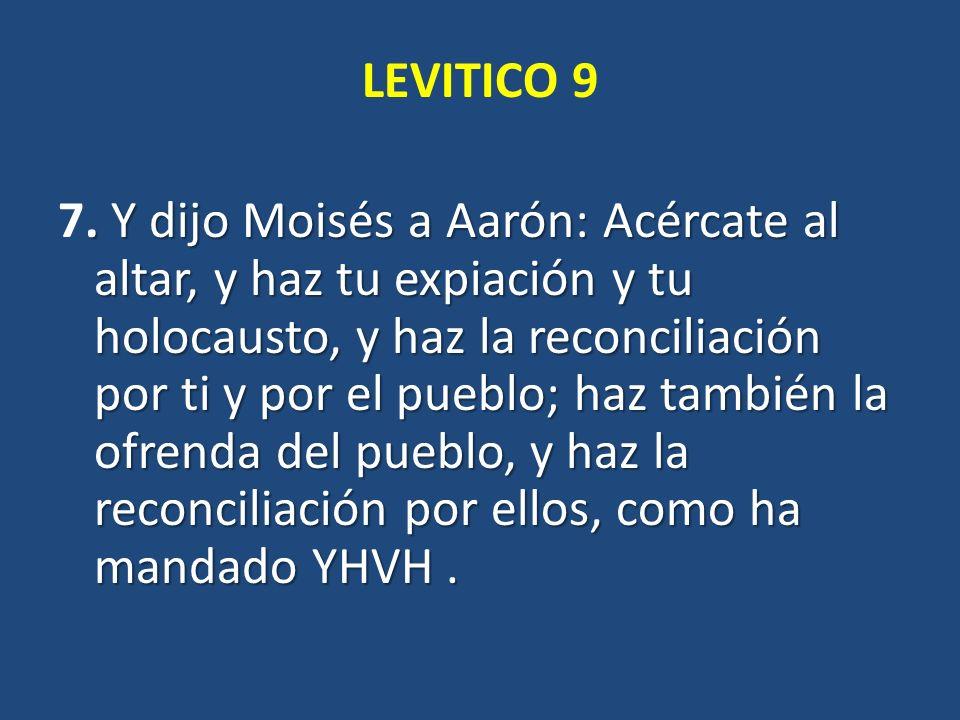 LEVITICO 9 7.