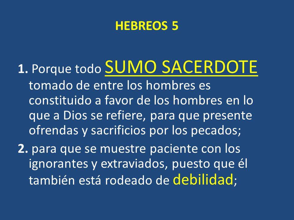 HEBREOS 5 1.