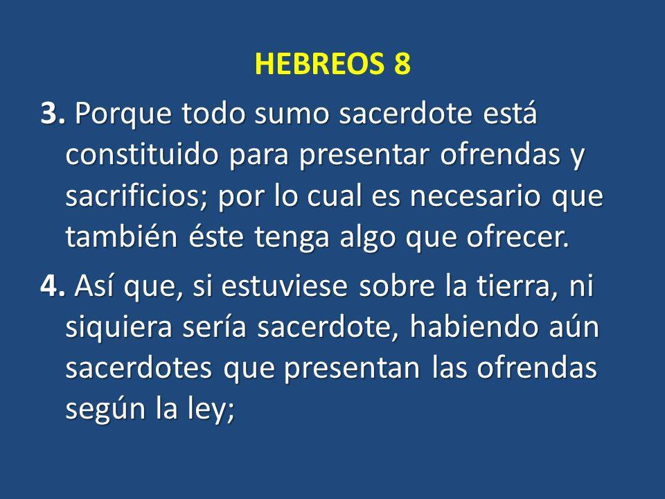 HEBREOS 8 3.