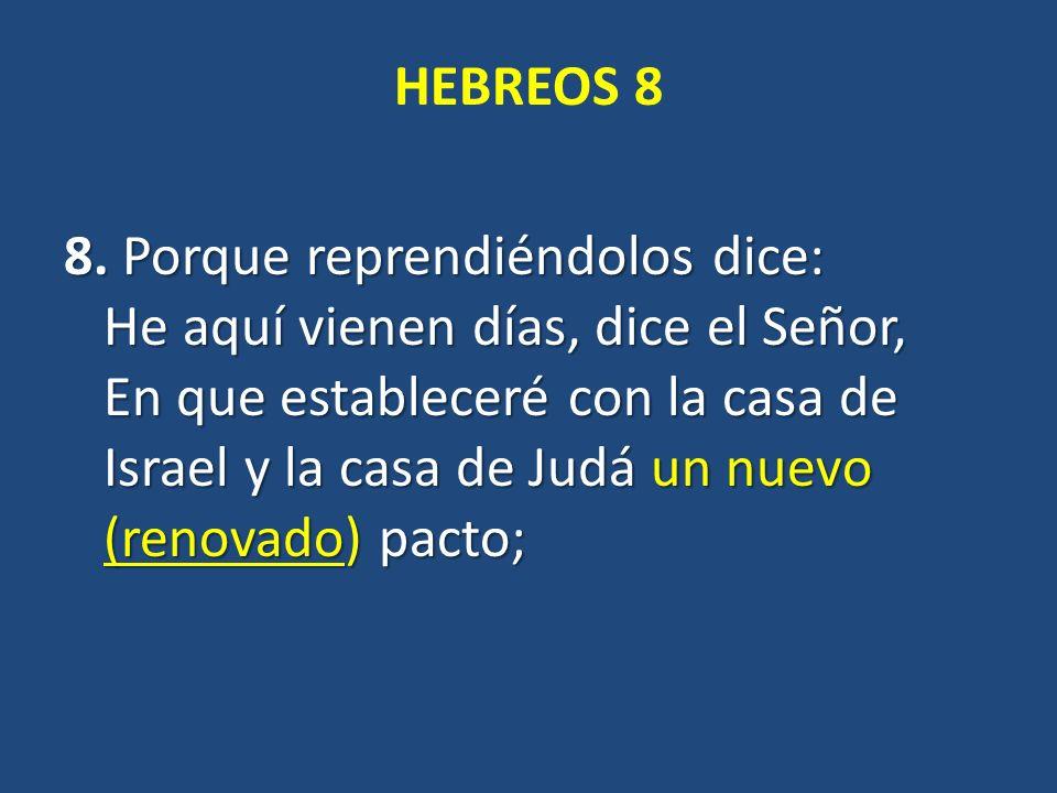 HEBREOS 8 8.