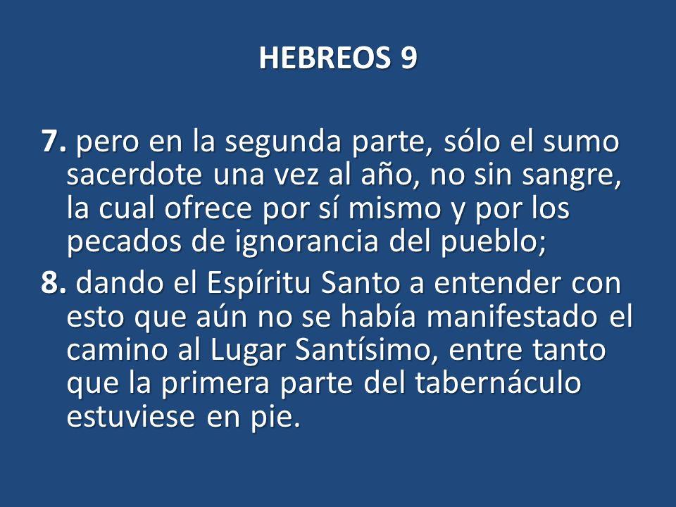 HEBREOS 9 7.