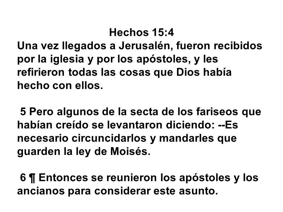 Hechos 15:4