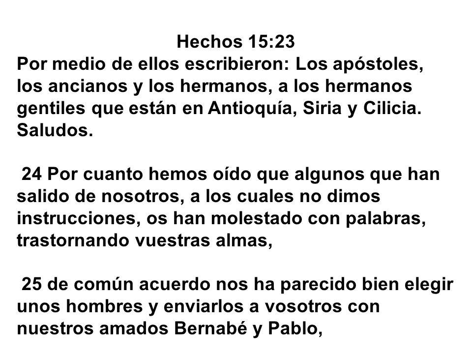 Hechos 15:23