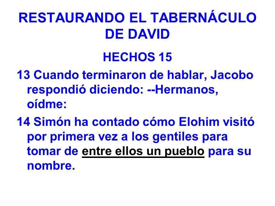 RESTAURANDO EL TABERNÁCULO DE DAVID