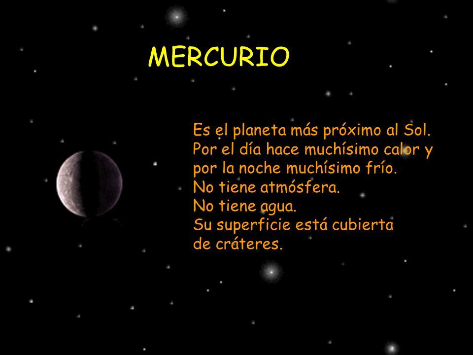 MERCURIO Es el planeta más próximo al Sol.