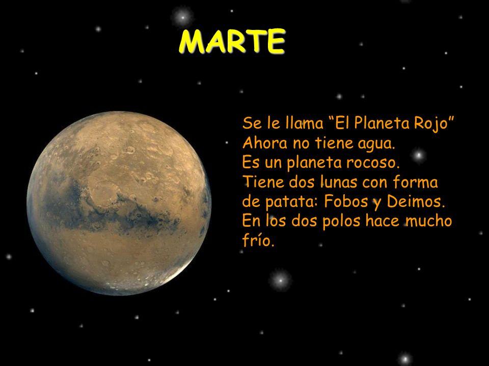 MARTE Se le llama El Planeta Rojo Ahora no tiene agua.