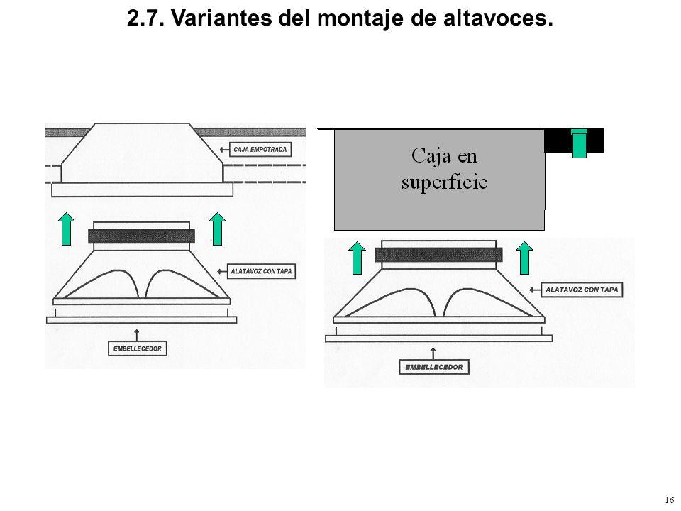 2.7. Variantes del montaje de altavoces.