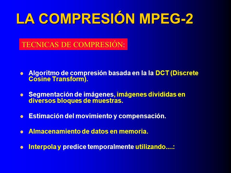 LA COMPRESIÓN MPEG-2 TECNICAS DE COMPRESIÓN: