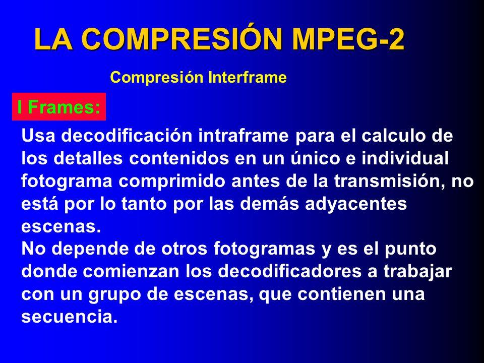 LA COMPRESIÓN MPEG-2 I Frames: