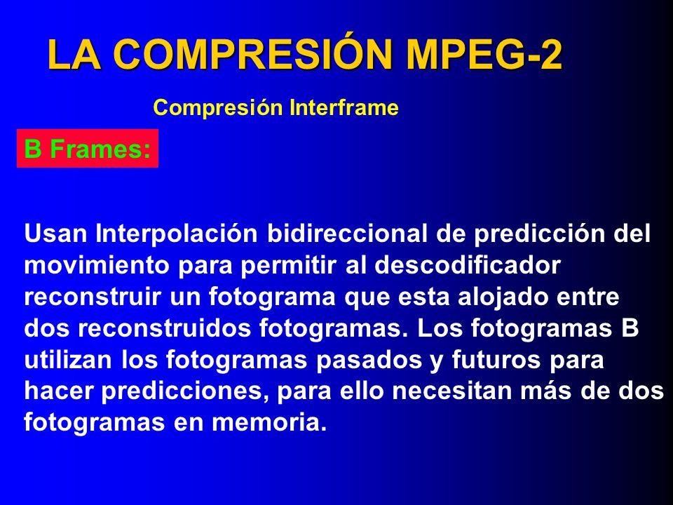 LA COMPRESIÓN MPEG-2 B Frames: