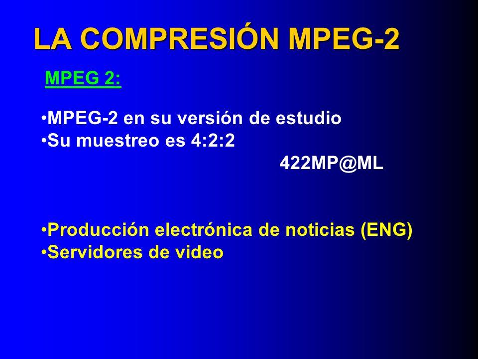 LA COMPRESIÓN MPEG-2 MPEG 2: MPEG-2 en su versión de estudio