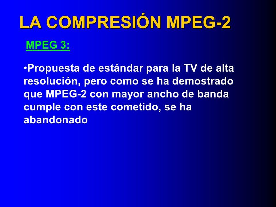 LA COMPRESIÓN MPEG-2 MPEG 3: