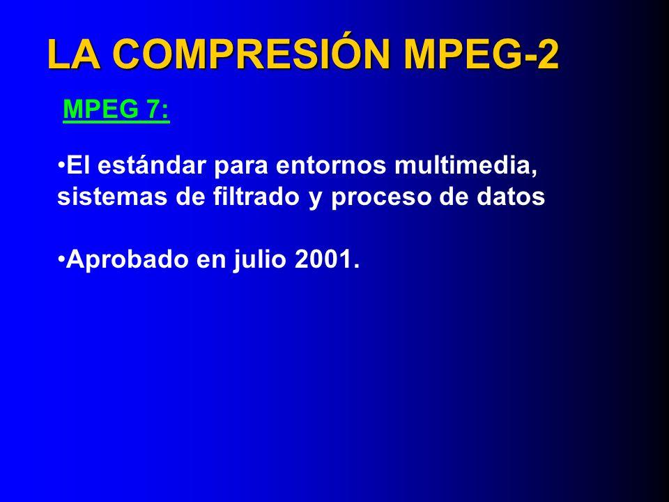 LA COMPRESIÓN MPEG-2 MPEG 7: