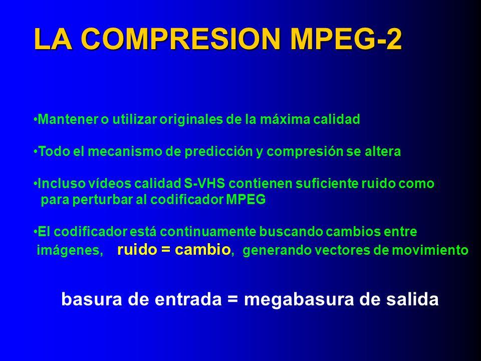 LA COMPRESION MPEG-2 basura de entrada = megabasura de salida