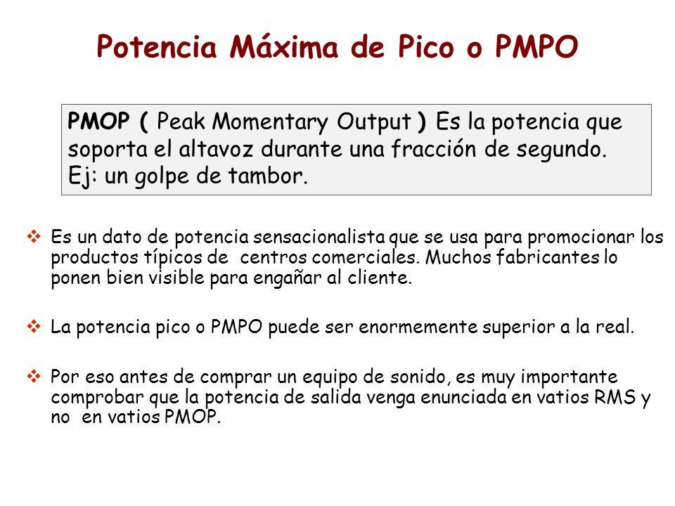 Potencia Máxima de Pico o PMPO