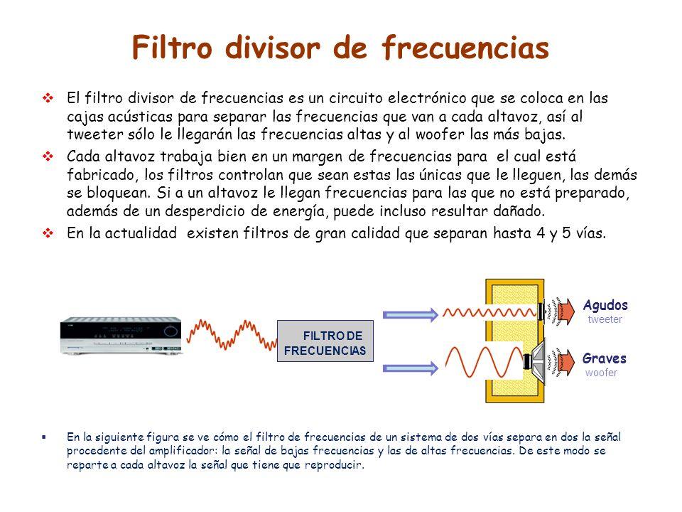 Filtro divisor de frecuencias